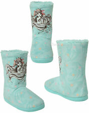 DISNEY LITTLE MERMAID ARIEL Sketch Women Slippers Boots Sherpa Plush House Shoes