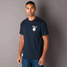 Mens Ucla Yuma T-Shirt In Navy-Crew Neck-Ribbed Collar-Logo To