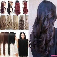Full Head New 100% THICK Wave Straight One Piece 5 Clips Clip in Hair Extensions
