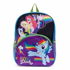 """MY LITTLE PONY RAINBOW DASH 16"""" FullSize Backpack w/Optional Insulated Lunch Box"""