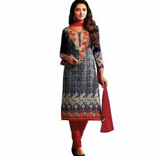 Designer Elegant Embroidery Cotton Salwar Kameez Readymade India-Venee-HR-2510