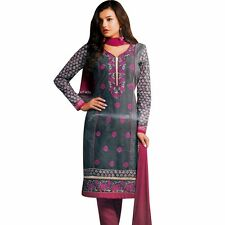 Designer Elegant Embroidery Cotton Salwar Kameez Readymade India-Venee-HR-2507-A