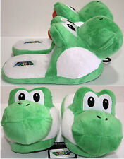 NEW Super Mario Bros Japanese GREEN YOSHI ADULT Slippers PLUSH HOUSE SHOES S-L