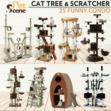 Cat Scratching Post Tree Gym House Condo Furniture Scratcher Pole Toy Multi-Size