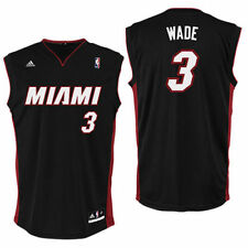 Dwyane Wade Miami Heat adidas Preschool Replica Road Jersey - Black - NBA