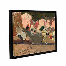 Joaquin Sorolla y Bastida's 'The Beach, Biarritz, 1906' Gallery Wrapped Floater-