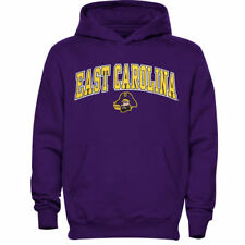 East Carolina Pirates Youth Midsized Pullover Hoodie - Purple - NCAA