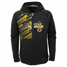 Boston Bruins Reebok Youth TNT PlayDry Full Zip Hoodie - Black