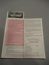 1970 Chevrolet Protecto Plate Owners Protection Plan Warranty Dealer Chevy CK