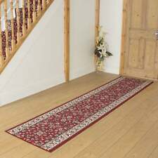 Persian Red - Hallway Carpet Runner Rug Traditional Hall Extra Very Long Cheap