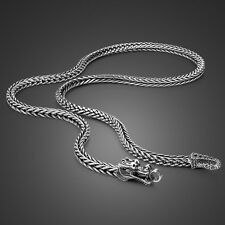 Genuine Solid Sterling Silver Thai Silver Dragon Chain Men's Necklace N524