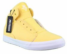 Supra Terry Kennedy TK Society Mid Top Yellow Microfiber Peeps Shoes Sneakers NW
