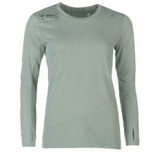 adidas Womens LM SN T Shirt Sports Casual Thumb Loops Long Sleeve Crew Neck Tee