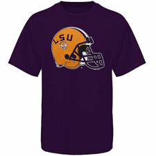 LSU Tigers Helmet LSU Football T-Shirt - Purple - NCAA
