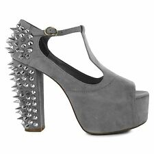 Jeffrey Campbell Womens Foxy Spike Cushioned Shoes Stiletto Heels Slip On