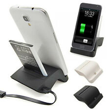 Dual Phone Battery Charger Dock Cradle Stand for Samsung Galaxy Mega 6.3 i9200