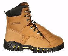 New Michelin Sledge Steel Toe Metatarsal Men's Brown Work Boots XPX781 Leather
