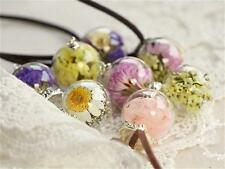 Lover Gift Glass Bottle Necklace Boutique Real Dried Flower Pendant Jewelry Fine