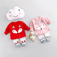 2pcs Toddler kids baby Girls Outfits topst+pants Outfits&set Girls clothes set