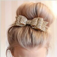 Women Girls Hairpin Bowknot Barrette Crystal Hair Clip Bow Valentine's Day Gifts