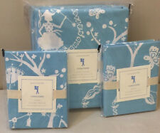 NIP 3P Pottery Barn Kids Blue CHINOISERIE Duvet Cover STANDARD Shams FULL/QUEEN