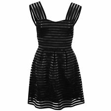 AX Paris Womens Skater Dress Stretchy Sleeveless Sweetheart Front Top