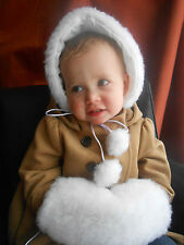 Faux Fur Hat and Muff Set sizes to fit 12 months to 7 years