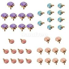 10x Seashell Charms Pendants Bracelet Fit DIY Jewelry Making for Necklace