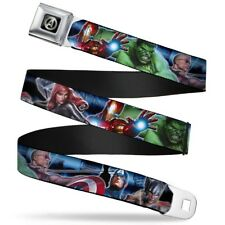 Avengers Marvel Comics Superheroes Assembled Attack Seatbelt Belt