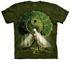 Yin Yang Tree Forest Nature Adult T-Shirt Tee