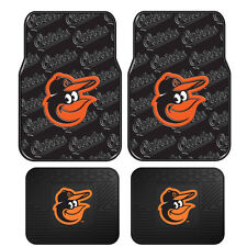 New MLB Baltimore Orioles Car Truck Front / Back All Weather Rubber Floor Mats