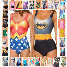 Womens Ladies Cartoon Costume Bathing Swimsuit Monokini Swimming Bikini Swimwear