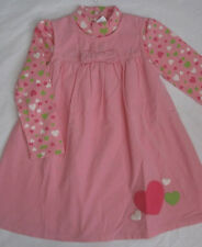 Gymboree Loveable Giraffe 4T Corduroy Dress & Hearts Top New Pink 2 pc set