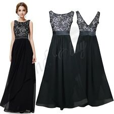 Sexy Women Formal Lace Long Dress Prom Evening Party Cocktail Bridesmaid Wedding