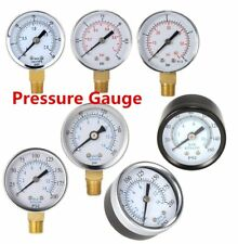"""New Water and Air Pressure Gauge New 1/4"""" Brass Thread 0-15 PSI 0-1 Bar DDB"""