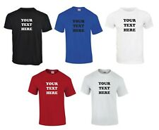 Personalised Mens T-Shirts Design Your Own, Choose Your Own Text Black and White