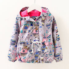 Toddler Baby girls jackets hooded outerwear kids spring&summer Sunscreen clothes