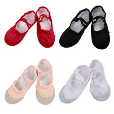 Kids Girls Ballet Shoes Canvas Gymnastics Yoga Slippers Dance Pants Socks 2-12Y