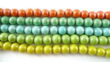 """12"""" Strand Coated Glass Beads 10mm Assorted Colors CHOOSE"""