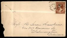 1885 Richmond Virginia Single Franked Cover To Wilmington Delaware