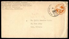 1946 APO 711 airmail postal stationery cover to Peru IL