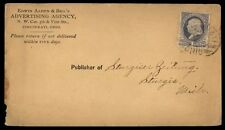 Cincinnati Ohio Advertising Agency 19th Century Cover to Sturgis MI