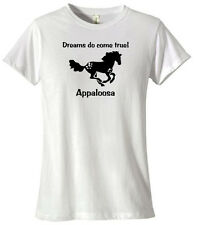 APPALOOSA Horse * Dreams Do Come True! * T-shirt Choice of  Silver or gold