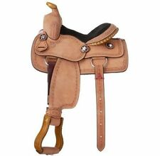 Tough-1 Saddle Western Youth Cowboy Roughout Barbwire Light Oil KS181