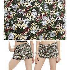 Disney Floral Lilo & Stitch Alien Hawaii 5 Pocket Jean Shorts JRS Size 7 11 13