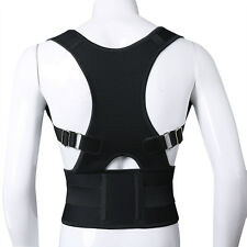 Unisex Adjustable Back Support Correction Posture Corrector Brace Shoulder Belt