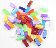 Wholesale 50/100Pcs Mixed Color Acrylic Geometric Spacer Beads Jewelry 6x14mm