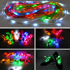 1 Pair LED Shoelaces Flash Light UP Disco Party Glow Stick Strap Eye-catching