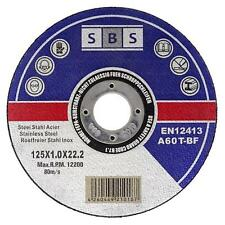 SBS Cutting disc 125 x 1,0 INOX Stainless Steel extra fine Quantity selectable