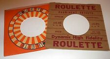 ROULETTE RECORD COMPANY 45 RPM PAPER SLEEVES 2 PACK #4